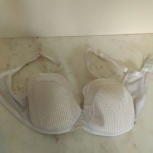 CHANTELLE - white and gold soft cup bra